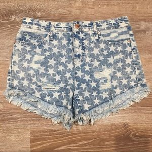 Mossimo Stars and Stripes High Rise Short Short